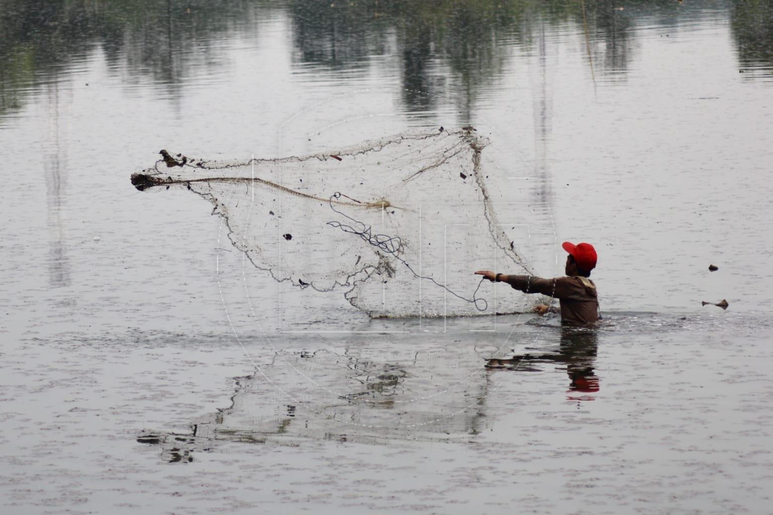 Menjaring Ikan di Situ Pengarengan