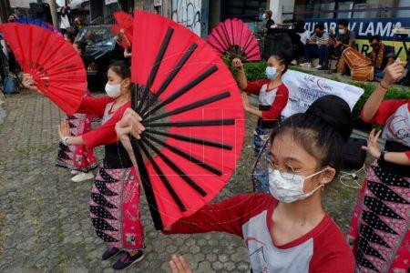 Tarian Untuk Merayakan HUT ke 22 Kota Depok