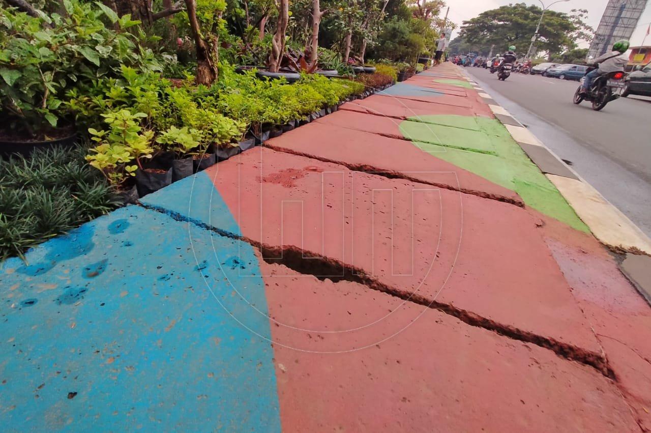 Pedestrian Jalan Juanda Dipercantik